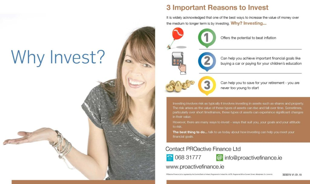 Reasons to Invest - Pro Active Finance Image